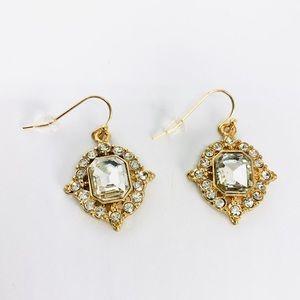 New! Vintage Crystal Rhinestones Dangle Earrings